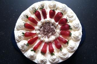 Erdbeersahne Torte