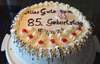 Geburtstagstorte zum 85. Geburtstag
