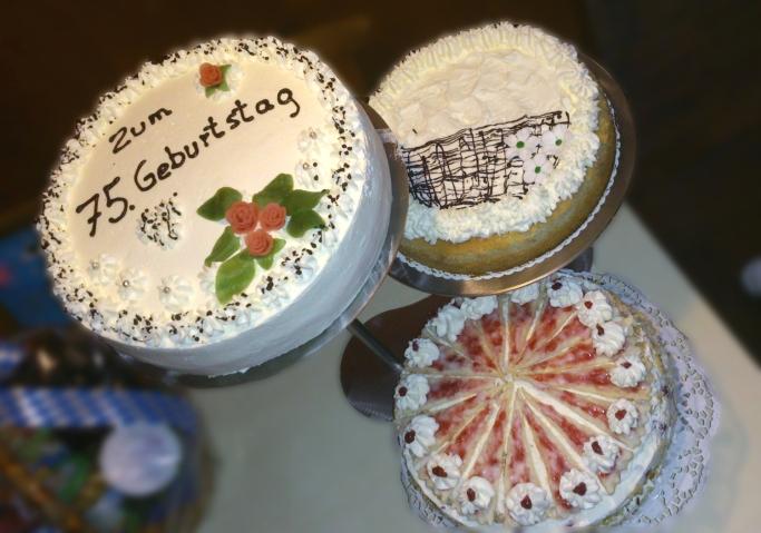 Geburtstagstorten zum 75. Geburtstag