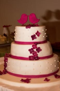 Hochzeitstorte Pink