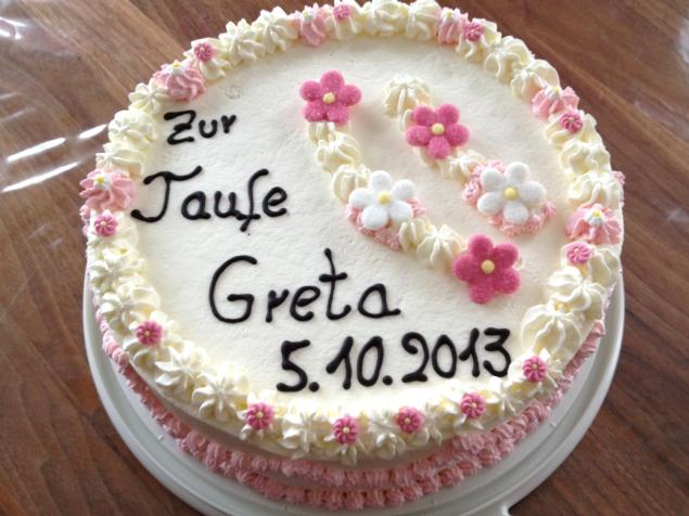 Tauftorte Greta
