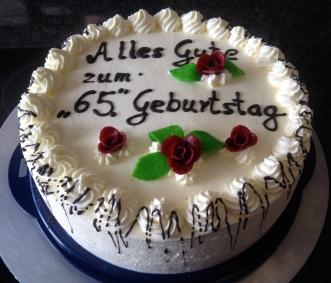 Geburtstagstorte zum 65ten