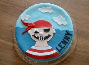 Torte mit Pirat