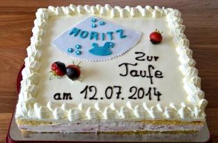 Tauftorte Moritz