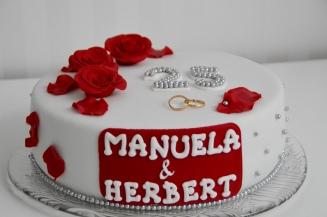 Hochzeitstorte zur Silbernen Hochzeit