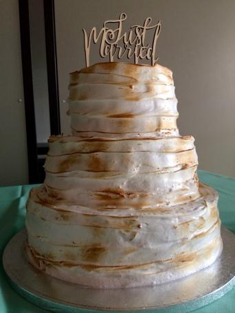 Baiser Hochzeitstorte