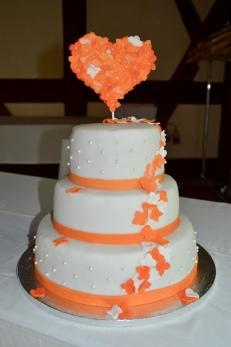 Hochzeitstorte orange